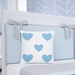 Almofada Corações Azul 26cm