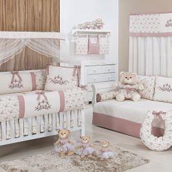 Quarto de Bebê Flores Rosé