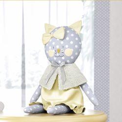 Boneca de Pano Gatinha Amarelo