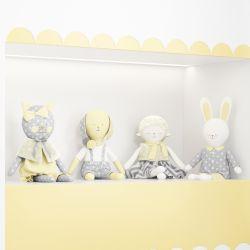 Bonecos de Pano Mimo Amiguinhos Amarelo