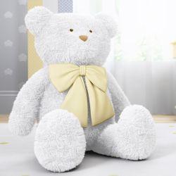 Urso Gigante com Laço Amarelo 1m