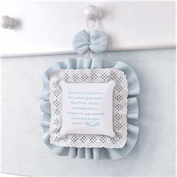 Enfeite de Porta Oração Santo Anjo Azul
