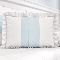 Almofada com Babado Azul