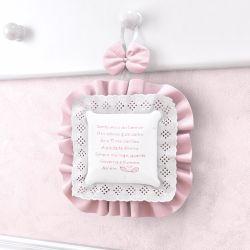Porta Maternidade Oração Santo Anjo Rosa