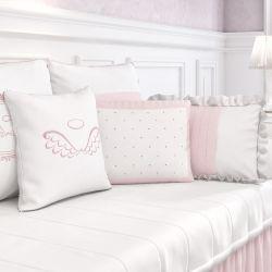 Almofadas Decorativas Anjo Rosa 3 Peças