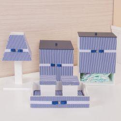 Kit Higiene Klin Azul Marinho Listrado