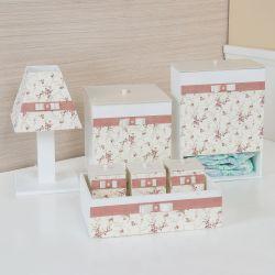 Kit Higiene Floral Rosé