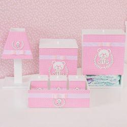 Kit Higiene Ursa Poá Rosa