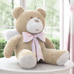 Urso Anjo Laço Rosa 46cm