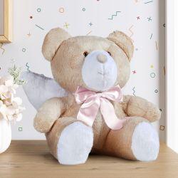 Urso de Pelúcia Anjo Laço Rosa 46cm