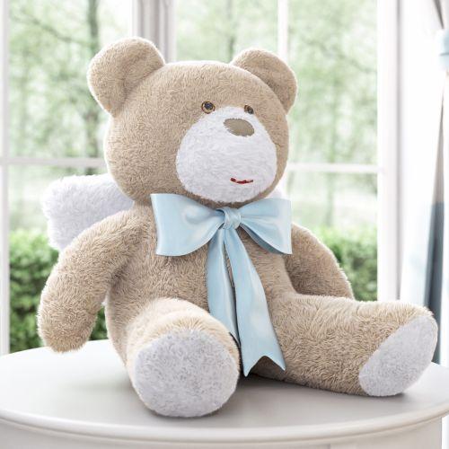 Urso Anjo Laço Azul 46cm