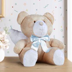 Urso de Pelúcia Anjo Laço Azul 46cm
