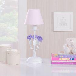 Abajur Flores Rosa