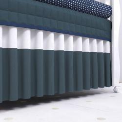 Saia de Berço Barra Azul Marinho