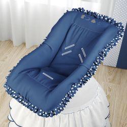 Capa de Bebê Conforto Amiguinhos Azul Marinho