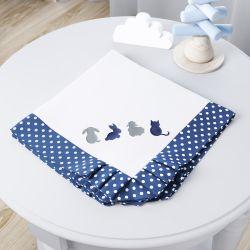 Manta Amiguinhos Azul Marinho
