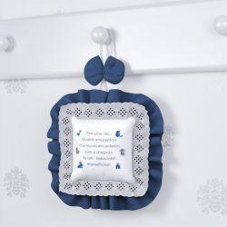 Porta Maternidade Amiguinhos Azul Marinho