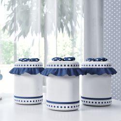 Jogo de Potes Amiguinhos Azul Marinho
