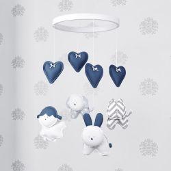 Móbile Amiguinhos Azul Marinho