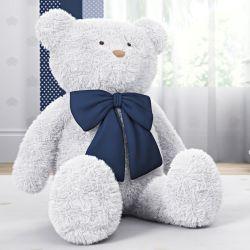 Urso Gigante com Laço Azul Marinho 1m