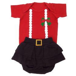 Conjunto de Body e Short Saia Natal