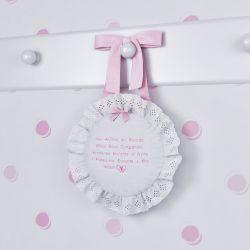 Porta Maternidade Anjinho da Guarda Rosa