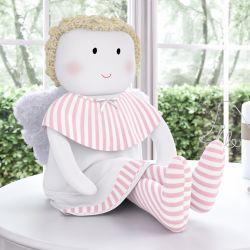 Boneco de Pano Carinho G Baby Anjo Rosa