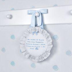 Porta Maternidade Anjinho da Guarda Azul