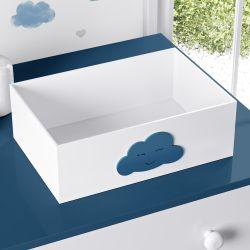 Cesta Nuvem Azul Marinho
