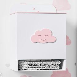 Porta Fraldas Nuvem Rosa