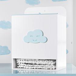 Porta Fraldas Nuvem Azul