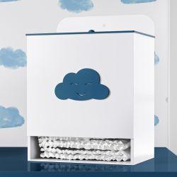 Porta Fraldas Nuvem Azul Marinho