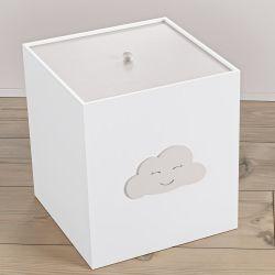 Lixeira Nuvem Cinza
