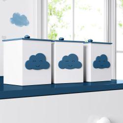 Jogo de Potes Nuvem Azul Marinho
