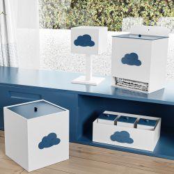 Kit Higiene Nuvem Azul Marinho