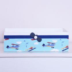 Cesta Aviãozinho Azul Marinho