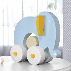 Elefante Educativo para Bebê Azul e Amarelo