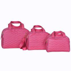 Conjunto de Bolsas Maternidade Milão Rosa Chiclete