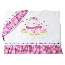 Jogo de Lençol Ursinha Amorosa Pink