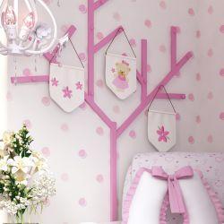 Cabideiro Árvore de Parede Rosa 2m