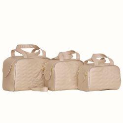 Conjunto de Bolsas Maternidade Milão Champanhe