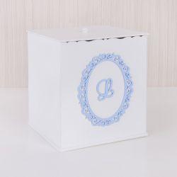 Lixeira Nobreza Real com Inicial do Nome Personalizada Azul