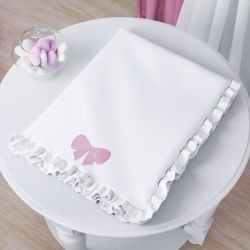 Cobertor Soft Laço Ursinha Bebê