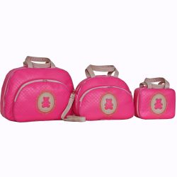 Conjunto de Bolsas Maternidade Diamante Pink