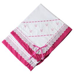 Manta Piquet Ursinhos Baby Pink