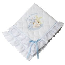 Manta Piquet Ursinho Dorminhoco Azul