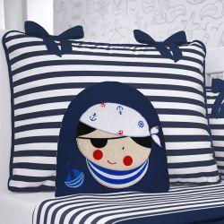 Almofada Piratinha Azul Marinho 28cm