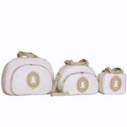 Conjunto de Bolsas Maternidade Diamante Marfim