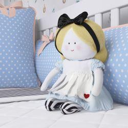 Boneca de Pano Carinho Alice e o Coelho P