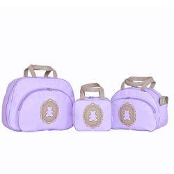 Conjunto de Bolsas Maternidade Diamante Lilás